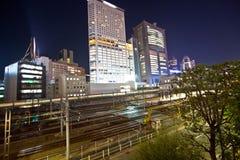 Stazione ferroviaria della città di Tokyo Fotografia Stock Libera da Diritti