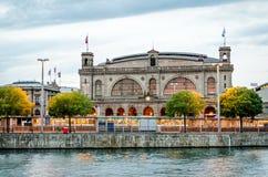 Stazione ferroviaria della conduttura di Zurigo Fotografia Stock
