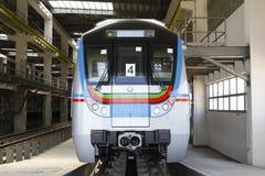 Stazione ferroviaria della metropolitana Fotografia Stock