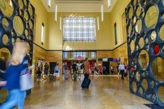 Stazione ferroviaria della Svizzera Fotografia Stock