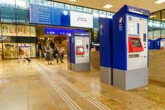 Stazione ferroviaria della Svizzera Fotografie Stock Libere da Diritti