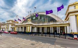 Stazione ferroviaria della Tailandia Fotografie Stock Libere da Diritti