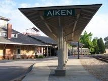 Stazione ferroviaria di Aiken fotografia stock libera da diritti