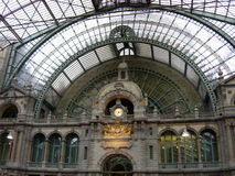 Stazione ferroviaria di Anversa Immagine Stock Libera da Diritti
