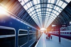 Stazione ferroviaria di arte Fotografia Stock Libera da Diritti