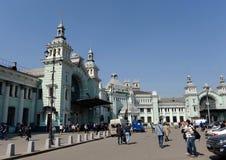 Stazione ferroviaria di Belorussky un giorno senza nuvole Fotografia Stock