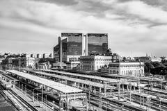 Stazione ferroviaria di Brignole, Genova, Italia Fotografia Stock