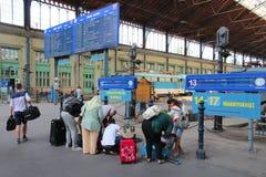 Stazione ferroviaria di Budapest Fotografie Stock Libere da Diritti