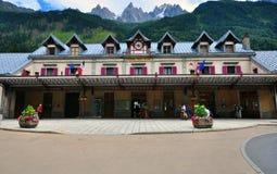 Stazione ferroviaria di Chamonix-Mont-Blanc, Francia Fotografie Stock Libere da Diritti