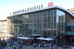 Stazione ferroviaria di Colonia fotografia stock