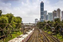 Stazione ferroviaria di Dadar in Mumbai Fotografia Stock Libera da Diritti