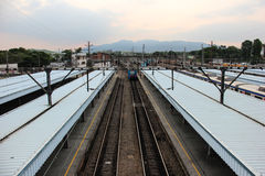Stazione ferroviaria di Deodoro vicino al parco olimpico 2016 di Rio Deodoro Immagine Stock Libera da Diritti