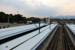 Stazione ferroviaria di Deodoro vicino al parco olimpico 2016 di Rio Deodoro Fotografie Stock Libere da Diritti