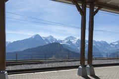 Stazione ferroviaria di estremità di Schynige Platte Fotografia Stock
