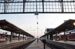Stazione ferroviaria di Francoforte Immagini Stock Libere da Diritti