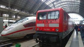Stazione ferroviaria di Francoforte Immagine Stock