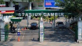Stazione ferroviaria di Gambir Immagine Stock