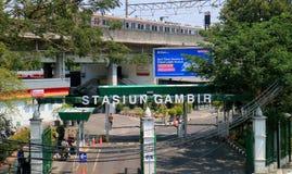 Stazione ferroviaria di Gambir Fotografia Stock Libera da Diritti