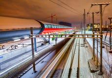 Stazione ferroviaria di Ginevra-Secheron Immagini Stock Libere da Diritti