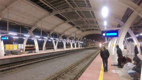 Stazione ferroviaria di Gliwice - Polonia Fotografia Stock Libera da Diritti