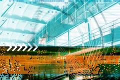 Stazione ferroviaria di Grunge Fotografie Stock Libere da Diritti