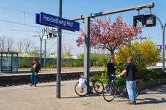Stazione ferroviaria di Heidelberg Fotografia Stock Libera da Diritti