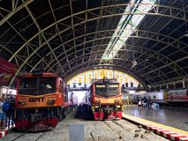 Stazione ferroviaria di Hua Lampong Fotografie Stock Libere da Diritti