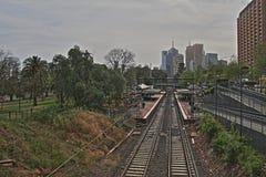 Stazione ferroviaria di Jolimont a Melbourne HDR Immagine Stock