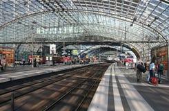 Stazione ferroviaria di Lehrter a Berlino Immagine Stock Libera da Diritti
