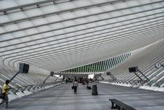 Stazione ferroviaria di Liège-Guillemins, Belgio Immagini Stock Libere da Diritti