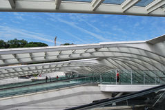 Stazione ferroviaria di Liège-Guillemins, Belgio Fotografie Stock Libere da Diritti