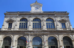 Stazione ferroviaria di Lille, Francia Fotografia Stock Libera da Diritti