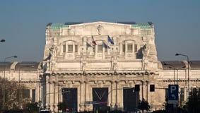 Stazione ferroviaria di Milano Centrale Immagine Stock Libera da Diritti