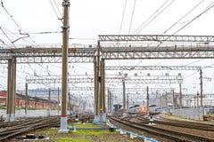 Stazione ferroviaria di Mosca, St Petersburg Immagine Stock Libera da Diritti