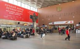Stazione ferroviaria di Mosca, St Petersburg Fotografia Stock Libera da Diritti