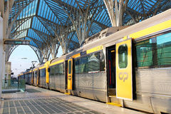 Stazione ferroviaria di Oriente a Lisbona, Portogallo immagine stock libera da diritti