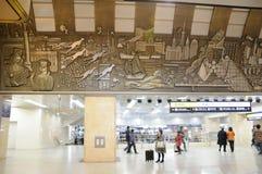Stazione ferroviaria di Osaka Metro Fotografia Stock