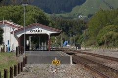 Stazione ferroviaria di Otaki, Nuova Zelanda fotografia stock