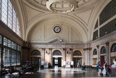 Stazione ferroviaria di Parigi in BarcelonanSpain fotografie stock libere da diritti