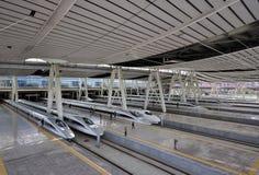 Stazione ferroviaria di Pechino, ââRail ad alta velocità Fotografia Stock