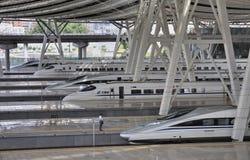 Stazione ferroviaria di Pechino, ââRail ad alta velocità Fotografie Stock Libere da Diritti