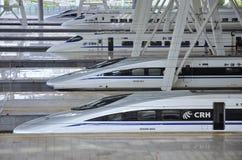 Stazione ferroviaria di Pechino, ââRail ad alta velocità Immagini Stock Libere da Diritti