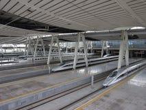 Stazione ferroviaria di Pechino, ââRail ad alta velocità Fotografia Stock Libera da Diritti
