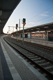 Stazione ferroviaria di Plauen Oberer Bahnhof Fotografie Stock Libere da Diritti