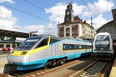 Stazione ferroviaria di Praga, repubblica Ceca Immagine Stock