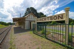 Stazione ferroviaria di Robertson, Nuovo Galles del Sud, Australia Immagini Stock Libere da Diritti