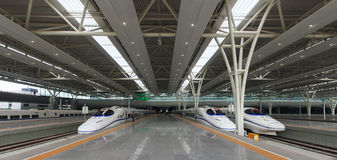 Stazione ferroviaria di Schang-Hai Hongqiao Fotografia Stock Libera da Diritti