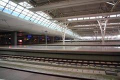 Stazione ferroviaria di Schang-Hai Hongqiao Immagine Stock Libera da Diritti
