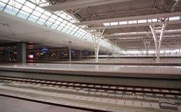 Stazione ferroviaria di Schang-Hai Hongqiao Fotografia Stock