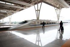 Stazione ferroviaria di Schang-Hai Hongqiao Immagine Stock